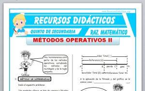 Ficha de Métodos Operativos 2 para Quinto de Secundaria