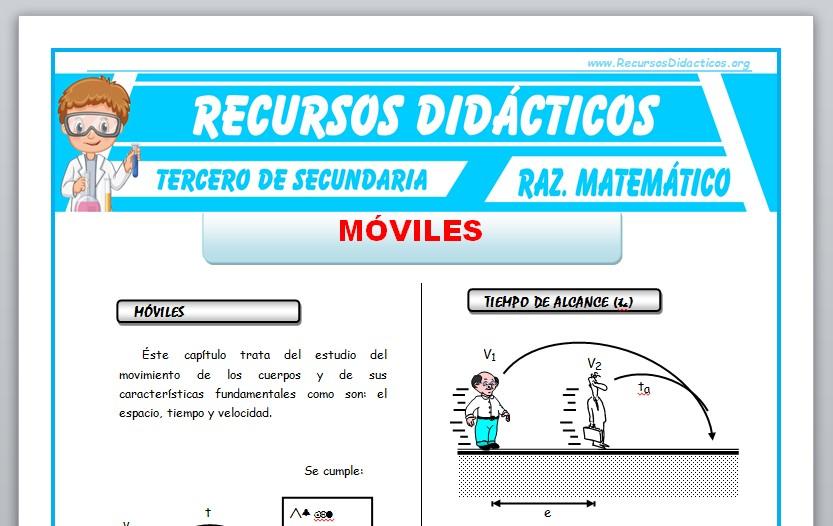 Ficha de Móviles Ejercicios para Tercero de Secundaria