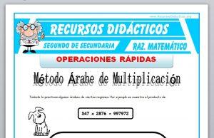Ficha de Operaciones Rápidas para Segundo de Secundaria