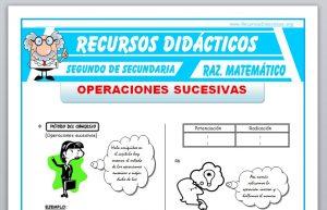 Ficha de Operaciones Sucesivas para Segundo de Secundaria