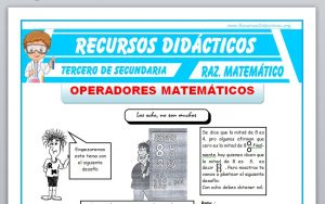 Ficha de Operadores Matemáticos Ejercicios para Tercero de Secundaria