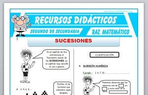 Ficha de Problemas de Sucesiones para Segundo de Secundaria