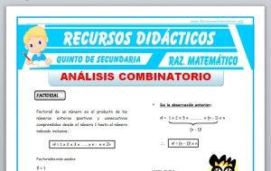 Ficha de Problemas de Análisis Combinatorio para Quinto de Secundaria