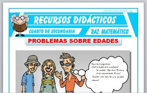 Ficha de Problemas sobre Edades para Cuarto de Secundaria