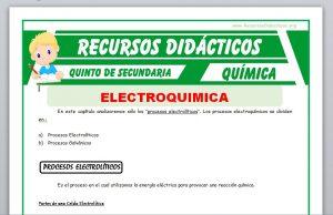 Ficha de Procesos Electrolíticos para Quinto de Secundaria