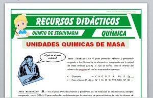 Ficha de Que es un Peso Atómico para Quinto de Secundaria