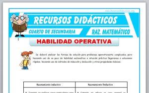 Ficha de Razonamiento Inductivo y Deductivo para Cuarto de Secundaria
