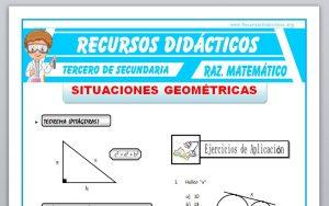 Ficha de Situaciones Geométricas para Tercero de Secundaria
