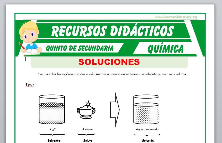 Ficha de Soluciones Binarias para Quinto de Secundaria