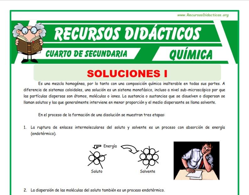 Ficha de Soluciones para Cuarto de Secundaria