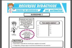 Ficha de Sucesiones para Tercero de Secundaria