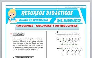 Ficha de Sucesiones y Analogías para Quinto de Secundaria