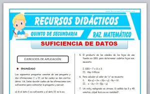 Ficha de Suficiencia de Datos para Quinto de Secundaria