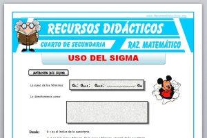 Ficha de Uso del Sigma para Cuarto de Secundaria