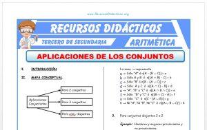 Ficha de Aplicaciones de la Teoría de Conjuntos para Tercero de Secundaria