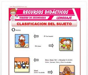 Ficha de Clasificación del Sujeto para Tercero de Secundaria