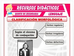 Ficha de Clasificación del Verbo para Quinto de Secundaria