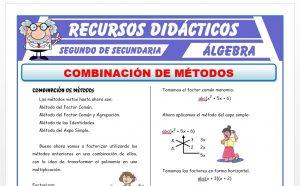 Ficha de Combinación de Métodos para Segundo de Secundaria