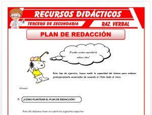 Ficha de Como Plantear en Plan de Redacción para Tercero de Secundaria