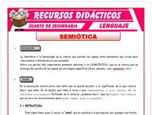 Ficha de Definición de la Semiótica para Cuarto de Secundaria