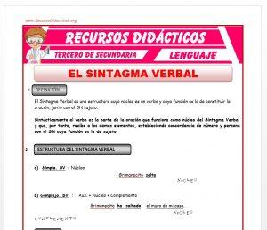 Ficha de Definición del Sintagma Verbal para Tercero de Secundaria