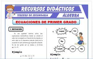 Ficha de Ecuaciones de Primer Grado para Tercero de Secundaria