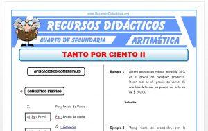 Ficha de Ejercicios de Aplicaciones Comerciales para Cuarto de Secundaria