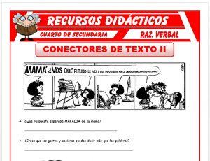 Ficha de Ejercicios de Conectores de Texto para Cuarto de Secundaria