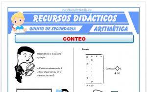 Ficha de Ejercicios de Conteo para Quinto de Secundaria