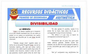 Ficha de Ejercicios de Divisibilidad para Primero de Secundaria