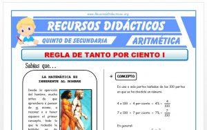 Ficha de Ejercicios de Porcentajes para Quinto de Secundaria