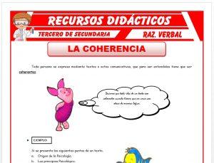 Ficha de Ejercicios sobre la Coherencia para Tercero de Secundaria