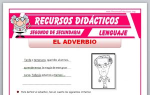 Ficha de El Adverbio para Segundo de Secundaria
