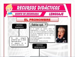 Ficha de El Pronombre para Quinto de Secundaria