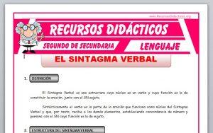 Ficha de El Sintagma Verbal para Segundo de Secundaria