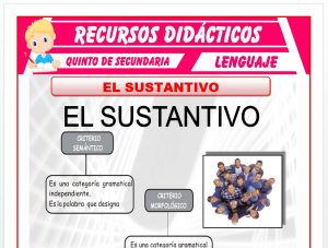 Ficha de El sustantivo para Quinto de Secundaria