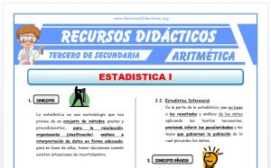 Ficha de Estadística 1 para Tercero de Secundaria