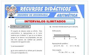 Ficha de Intervalos ilimitados para Segundo de Secundaria