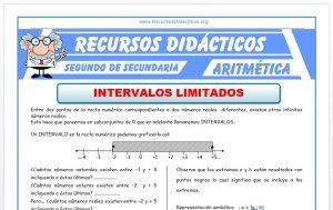 Ficha de Intervalos Limitados para Segundo de Secundaria