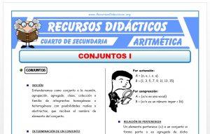Ficha de Introducción a los Conjuntos para Cuarto de Secundaria
