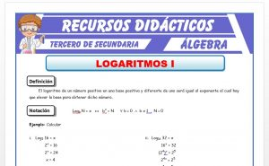 Ficha de Introduccion a los Logaritmos para Tercero de Secundaria