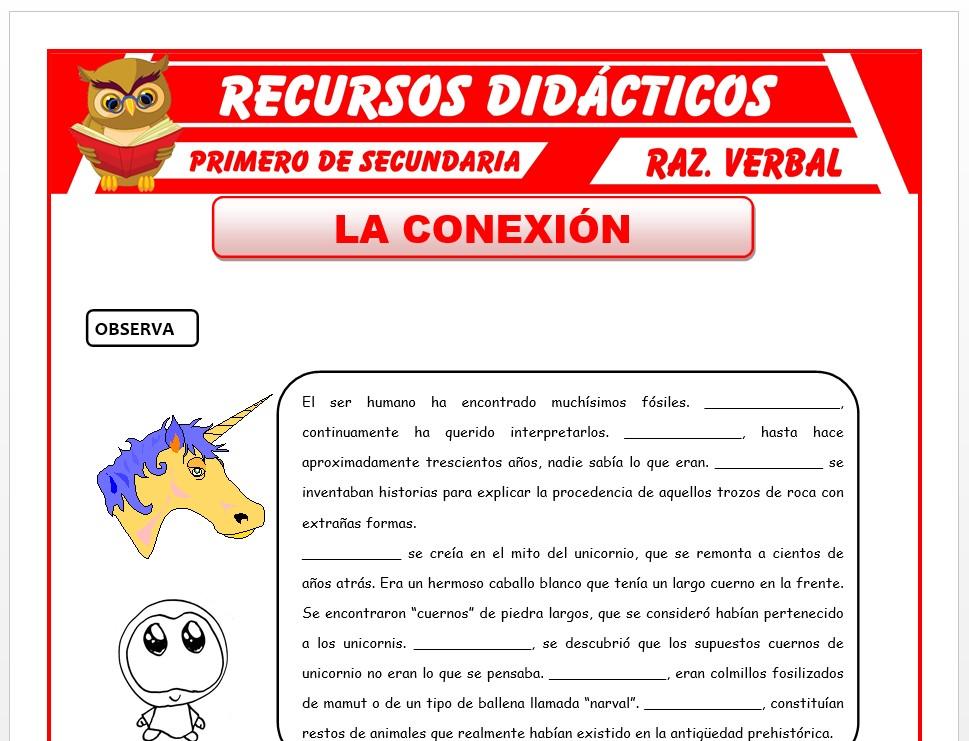 Ficha de La Conexión para Primero de Secundaria
