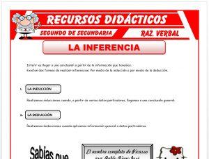 Ficha de La Inducción y la Deducción para Segundo de Secundaria