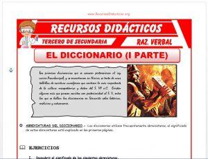 Ficha de Las Abreviaturas del Diccionario para Tercero de Secundaria