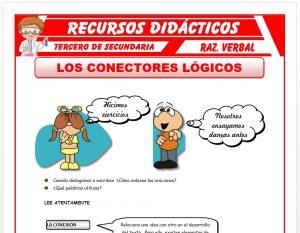 Ficha de Los Conectores Lógicos para Tercero de Secundaria