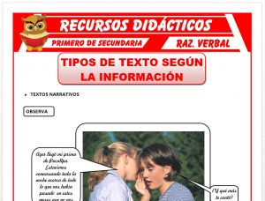 Ficha de Los Textos Narrativos para Primero de Secundaria