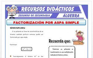 Ficha de Método de Aspa Simple para Segundo de Secundaria
