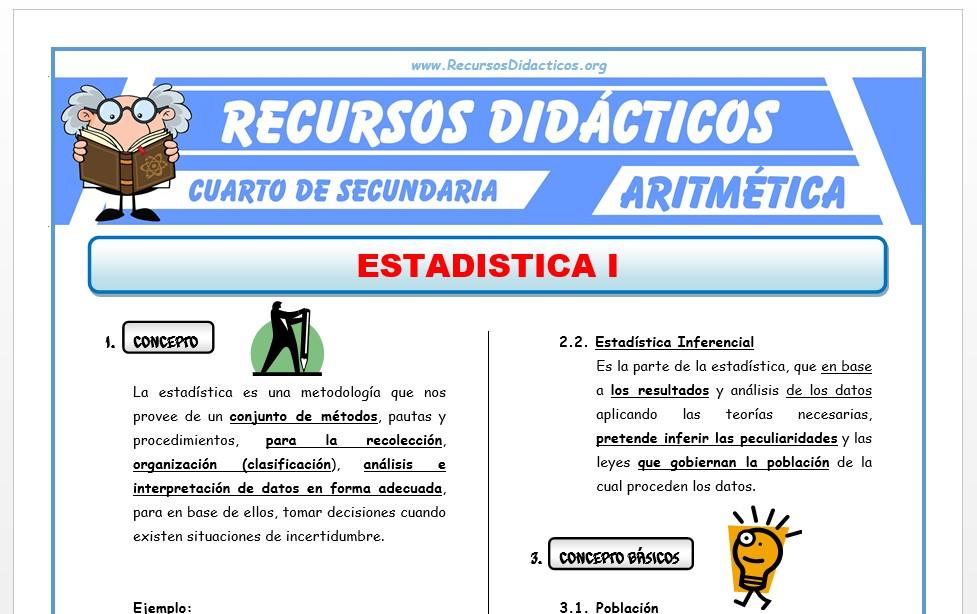 Ficha de Medidas de Tendencia Central para Cuarto de Secundaria