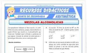 Ficha de Mezclas Alcohólicas para Quinto de Secundaria