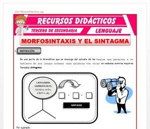 Ficha de Morfosintaxis y el Sintagma para Tercero de Secundaria